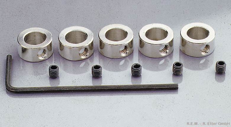 Stellringe 5 Stück 2 mm mit Stiftschraube