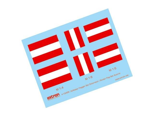 Aufkleber Flaggen Satz Österreich
