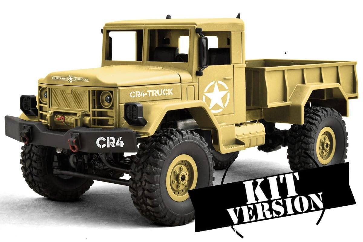 CR4 Militär LKW EP 1/16 KIT / Baukasten - 4WD (Sand)
