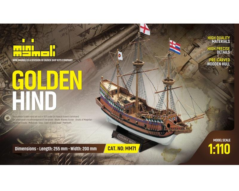 Golden Hind Bausatz 1:110 Mini Mamoli