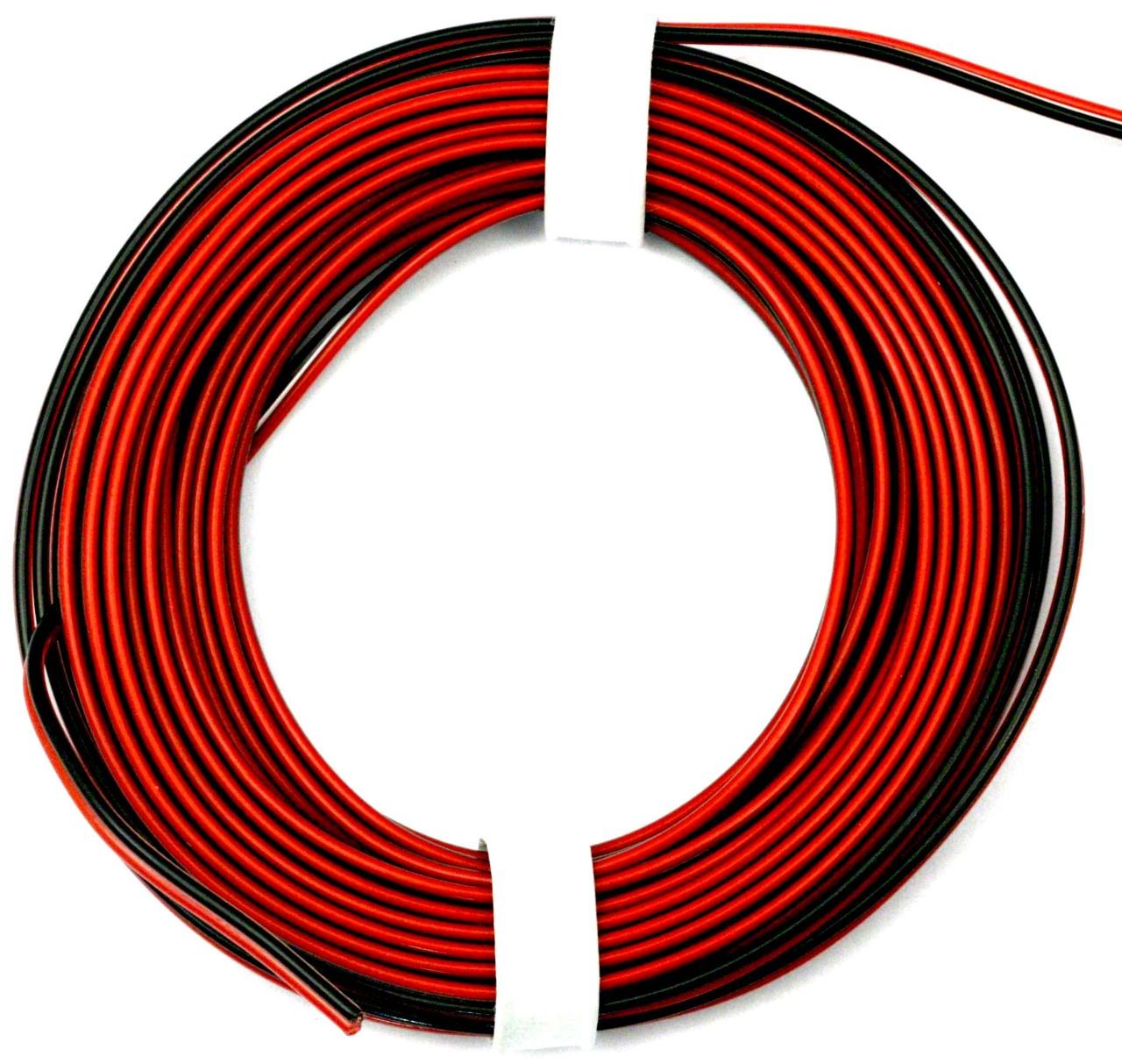 PVC-Litze 2x 0,25 mm², 5m rot/schwarz