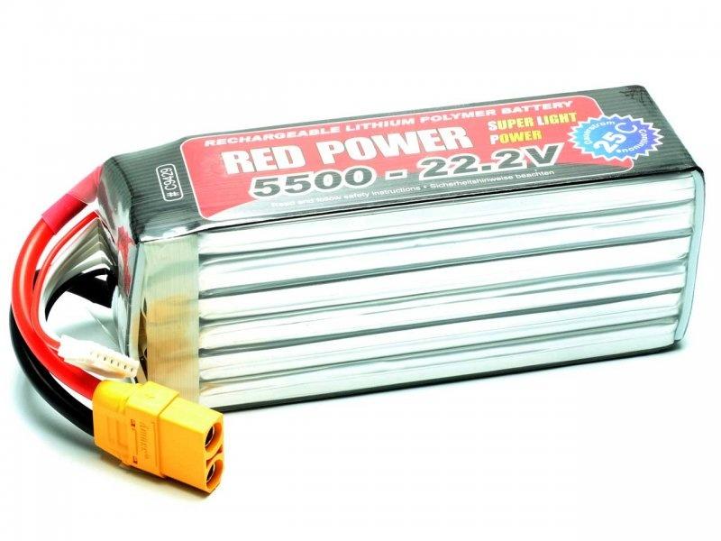LiPo Akku RED POWER SLP 6S 5500mAh