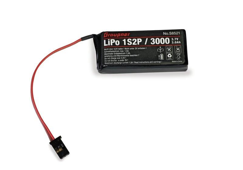Senderakku LiPo 1S2P/3000 3,7