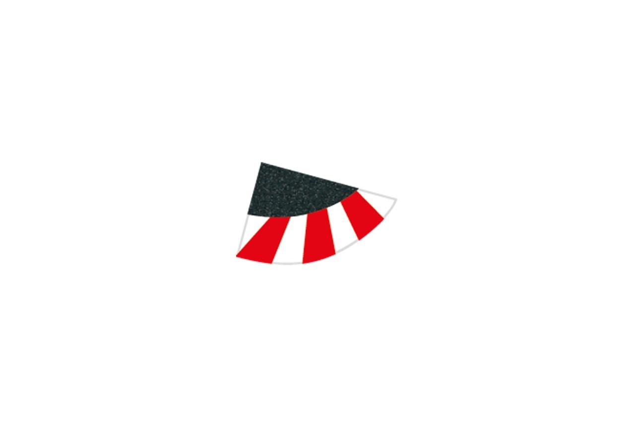 Endstücke für Kurvenaußenrand (4), breit