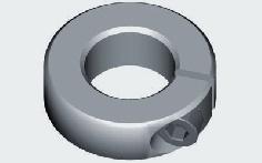 Alu-Klemmring für 6,0 mm Welle 5 Stück