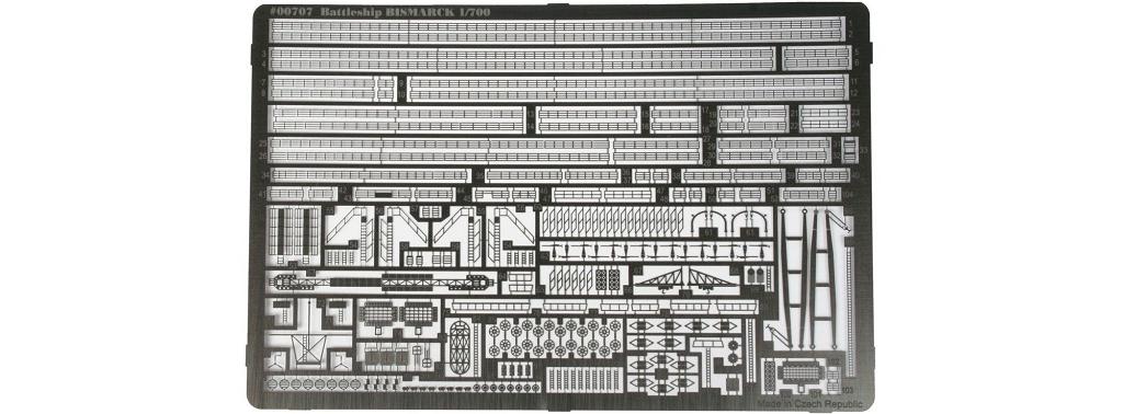 Fotoätzteile für Bismarck 1:700