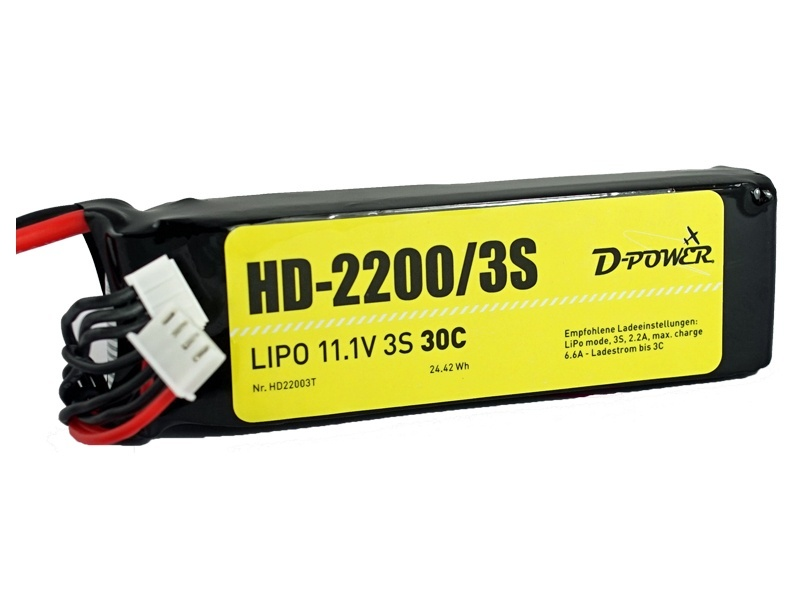 D-Power HD-2200 3S Lipo (11,1V) 30C XT-60