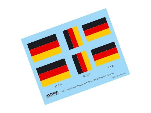Aufkleber Flaggen Satz Deutsch
