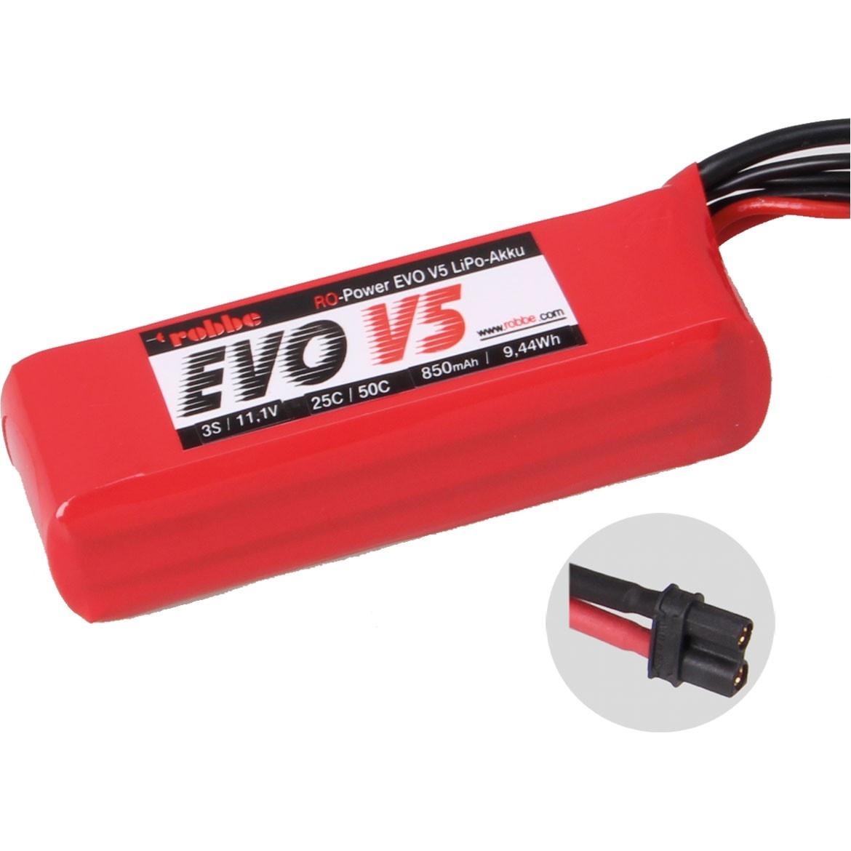 RO-POWER EVO V5 25(50)C 11,1 VOLT 3S 850MAH LIPO AKKU
