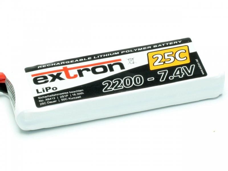 LiPo Akku Extron 2200mAh 7,4V 25C
