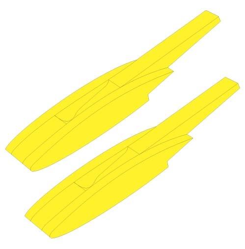 Schwimmerbausatz Magnum XL, gelb