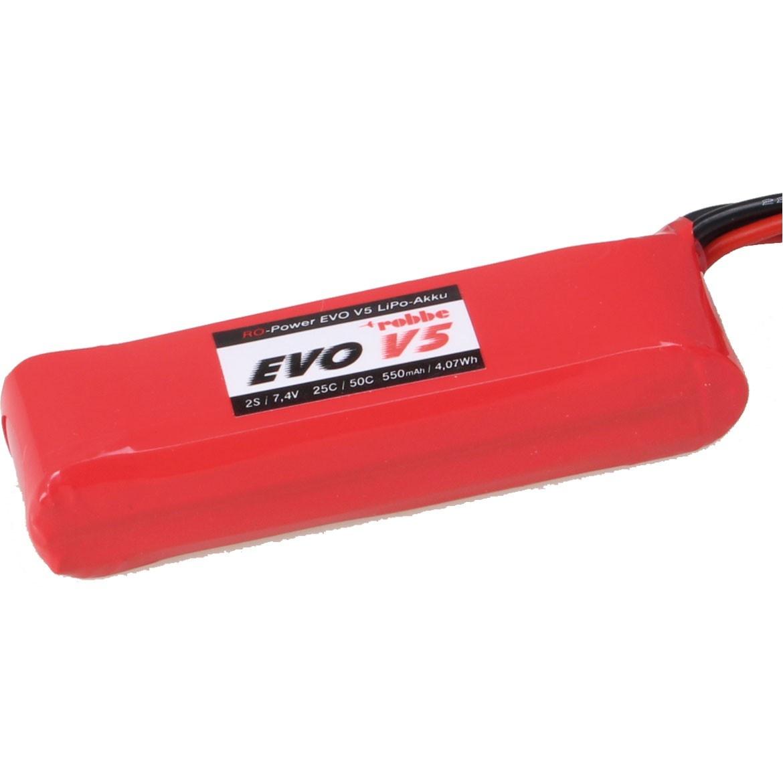 RO-POWER EVO V5 25(50)C 7,4 VOLT 2S 550MAH LIPO AKKU