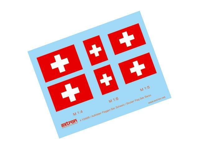 Aufkleber Flaggen Satz Schweiz