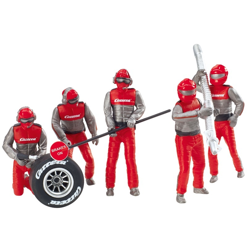 Figurensatz Mechaniker, Carrera Crew rot