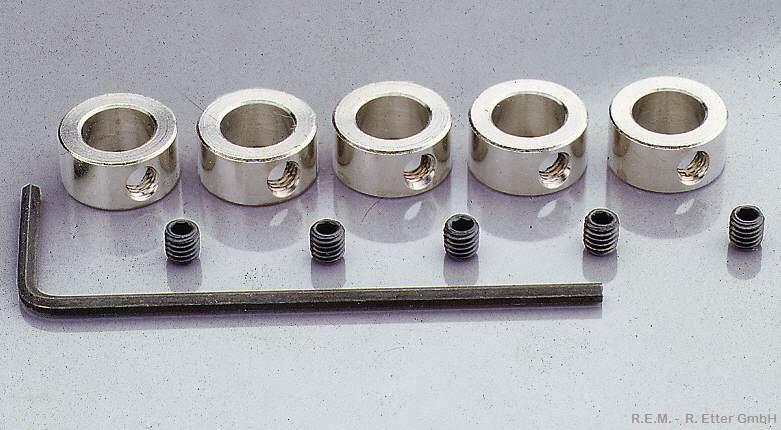 Stellringe 5 Stück 4 mm mit Stiftschraube