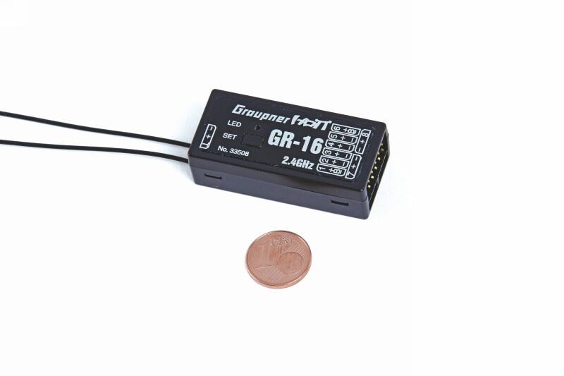 Empfänger GR-16 HoTT 2.4 GHz 8-Kanal